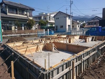 基礎工事始まりました@富士市さんどまき
